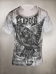 TAPOUT Tシャツ アメリカントップチーム グレー
