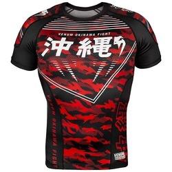 Okinawa 20 Rashguard ss blackwhitered1