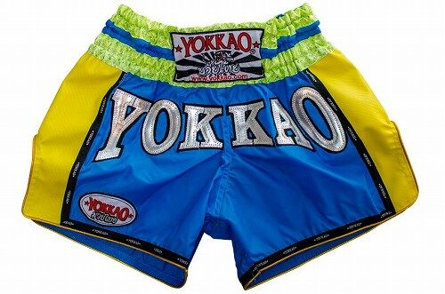 YOKKAO Airtech Carbon Sky blueYellow shorts 1