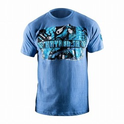 Samurai T-Shirt blue 1a