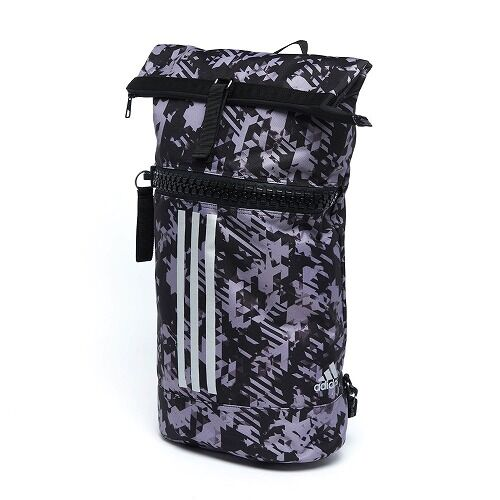 03adiACC043 - MILITARY BAG  - BLACK Camo - Front side