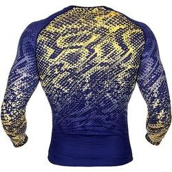 Tropical Tshirt Dry Tech blue yellow 2