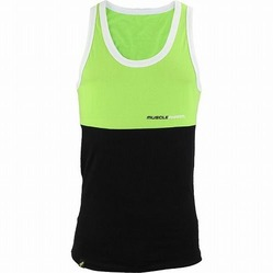 MusclePharm Stacked Tank Green Black 1