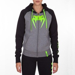 Infinity Hoody with Zip grey-black 1