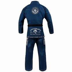 Goorudo 3 Gold Weave Jiu Jitsu Gi blue 2a