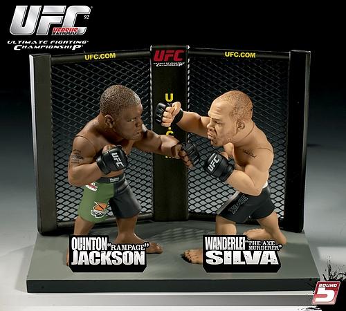 """UFCフィギュア クイントン""""ランペイジ""""ジャクソンVSヴァンダレイ・シウバ"""
