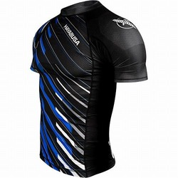 Metaru Charged Shortsleeve Rash Guard black blue 1