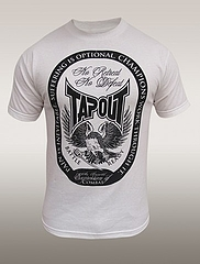 TAPOUT Tシャツ No Retreat 白