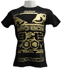BAD BOY Tシャツ First Hit Gold 黒