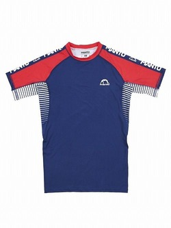 MANTO rashguard STRIPE navy blue2