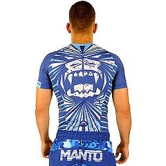 MANTO shortsleeve rashguard BEAST blue2