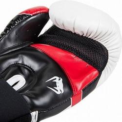 Glove Elite Wt Bk Red2
