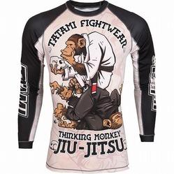 Tatami The Thinker Jiu-Jitsu Monkey Longsleeve Rashguard1