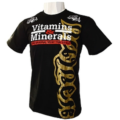 V&M Tシャツ Muay Thai Style 黒/ゴールド