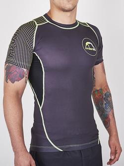 MANTO short sleeve rashguard HYBRID black green 1