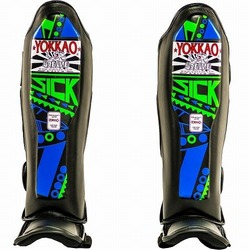 Sick BlueGreen Shin Guards 1