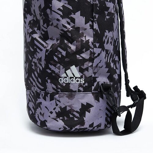 03adiACC043 - MILITARY BAG  - BLACK Camo - close up 03