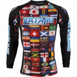 Dean Lister Flags Rash Guard1