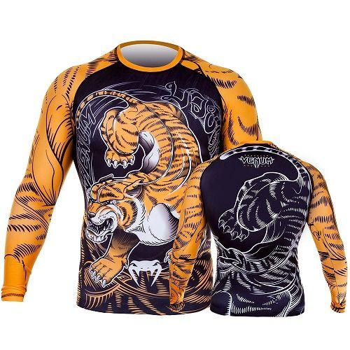 Venum Tiger Rashguard Black-Orange