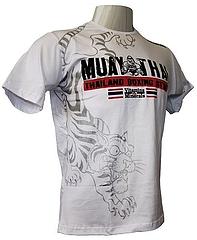 V&M Tシャツ Muay Thai Boxing 白/シルバー