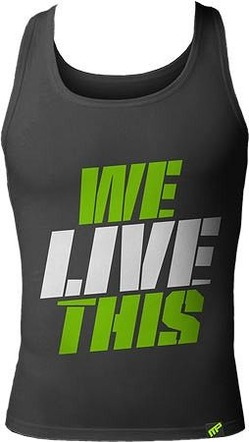 We Live This Tank Gray1