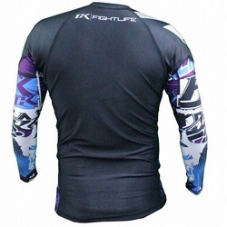 Collage Performance Rash Guard blue 2