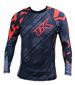 Droid red rashguard Long sleeve 1