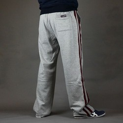 Relax-a-tron Jogging Bottoms - Grey  Burgundy 2