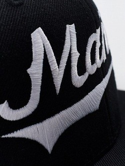 MANTO snapback cap NUMBER ONE black 3