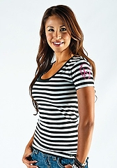 Ladys Tee Fitted Stripe Bk2