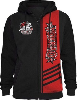 YOKKAO Extreme Fight Team 20 BlackRed Hoodie with zipper 3
