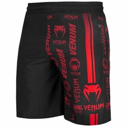 Logos Training Shorts blackred1
