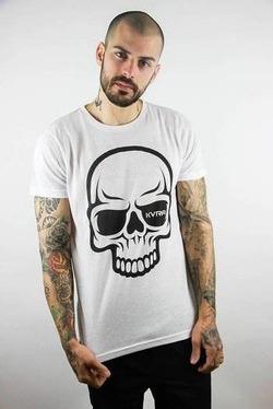 camiseta full skull white 2