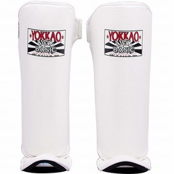 YOKKAO White BASIC Shin Guards 1
