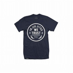 In Jiu Jitsu We Trust White on Navy 1