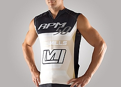 50thRelease Sleeveless_Mens_Top_Gold_Front