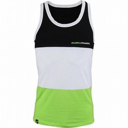 MusclePharm Tri-Fold Tank Black White Green 1