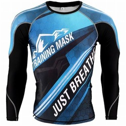 Just Breathe Blue Long Sleeve 1
