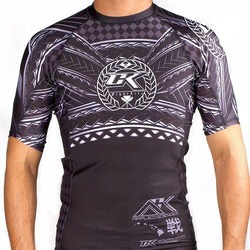 rashguard Short Sleeve Haka White black 1