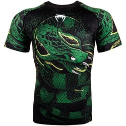Green Viper Rashguard SS BlackGreen 1