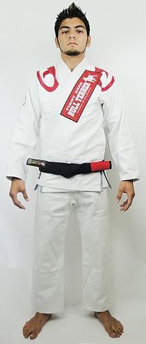 ブルテリア 柔術衣 フレア 白 フロント