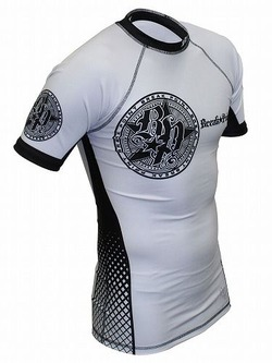 Elite Rash Guard White1