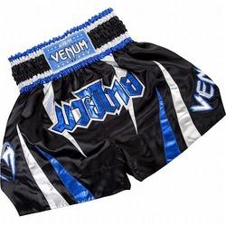 Thasao Muay Thai Shorts  Blue Silver 1