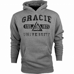 Gracie University Hoodie Gray 1