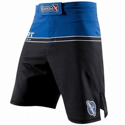 Hayabusa Sport Training Shorts Black-Blue 1a