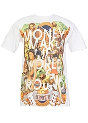 ECKO UNLTD Tシャツ MONEY CIRCUIT 白
