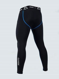 training tights BASICO black blue 2