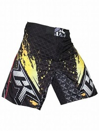 Shorts Stained S2 BK Yellow1