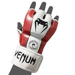 MMA Glove Skintex Leather Red1