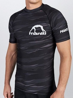 MANTO short sleeve rashguard BIG M black 1